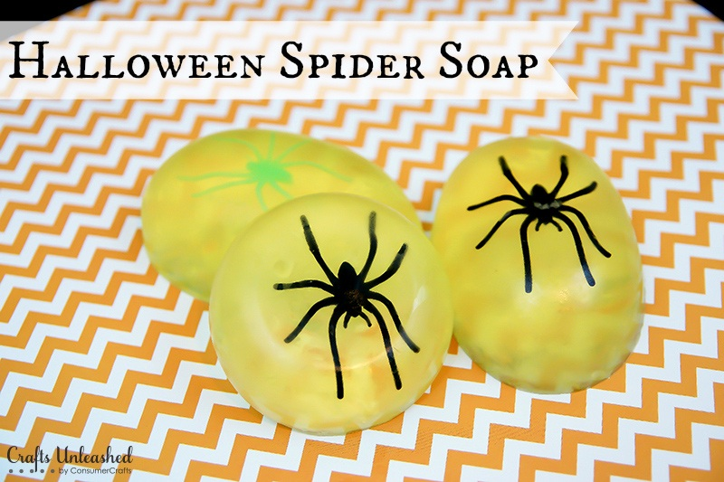 DIY Spider Halloween Soap Step by Step