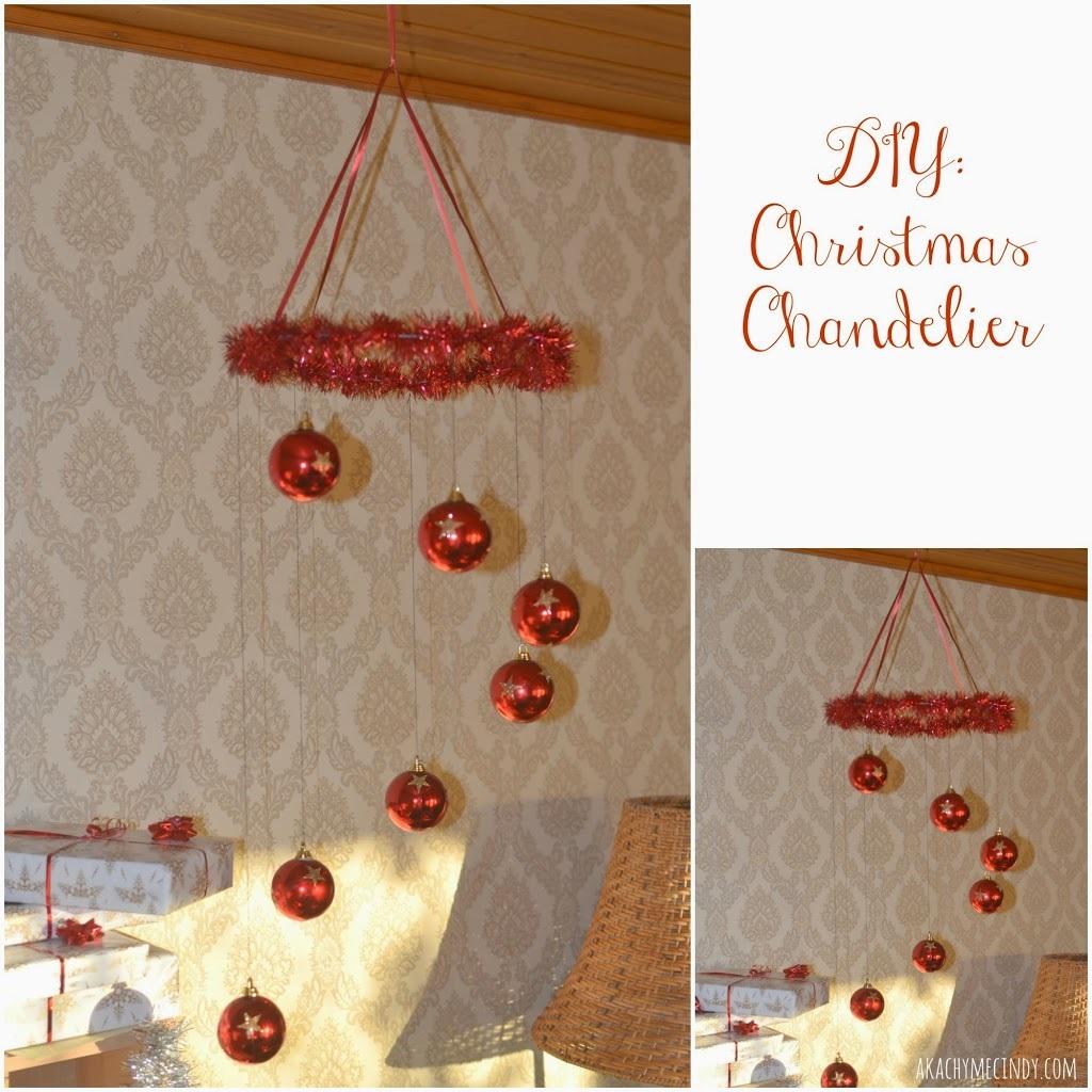 Diy easy to make christmas balls chandelier craftsmile diy easy to make christmas balls chandelier aloadofball Images