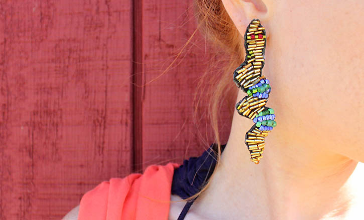 DIY slithering earrings