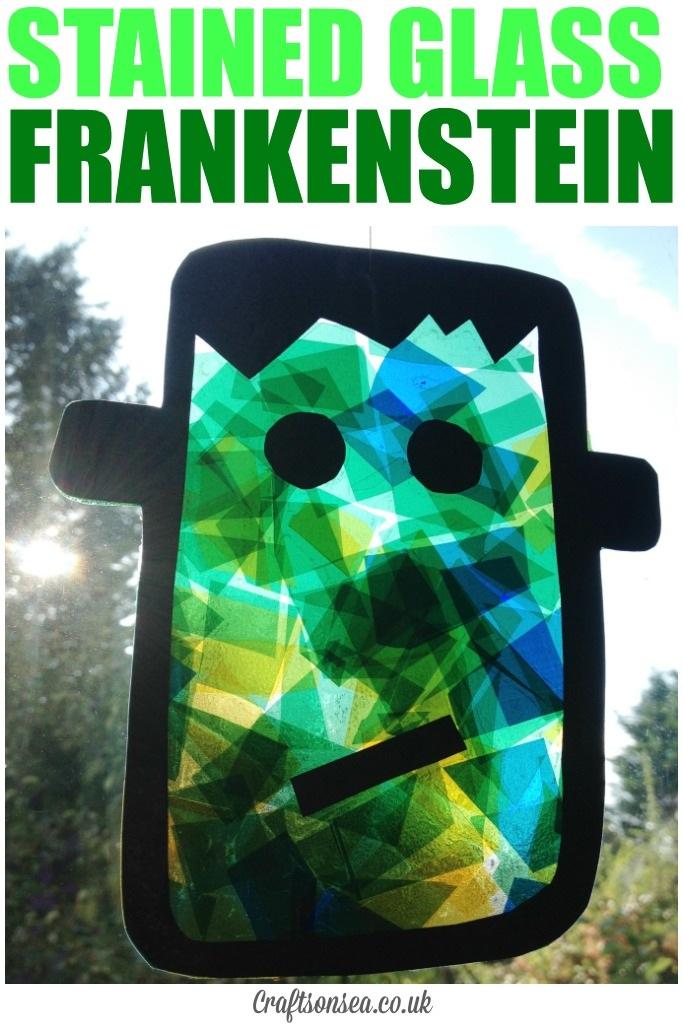 Stained Glass Frankenstein Suncatcher
