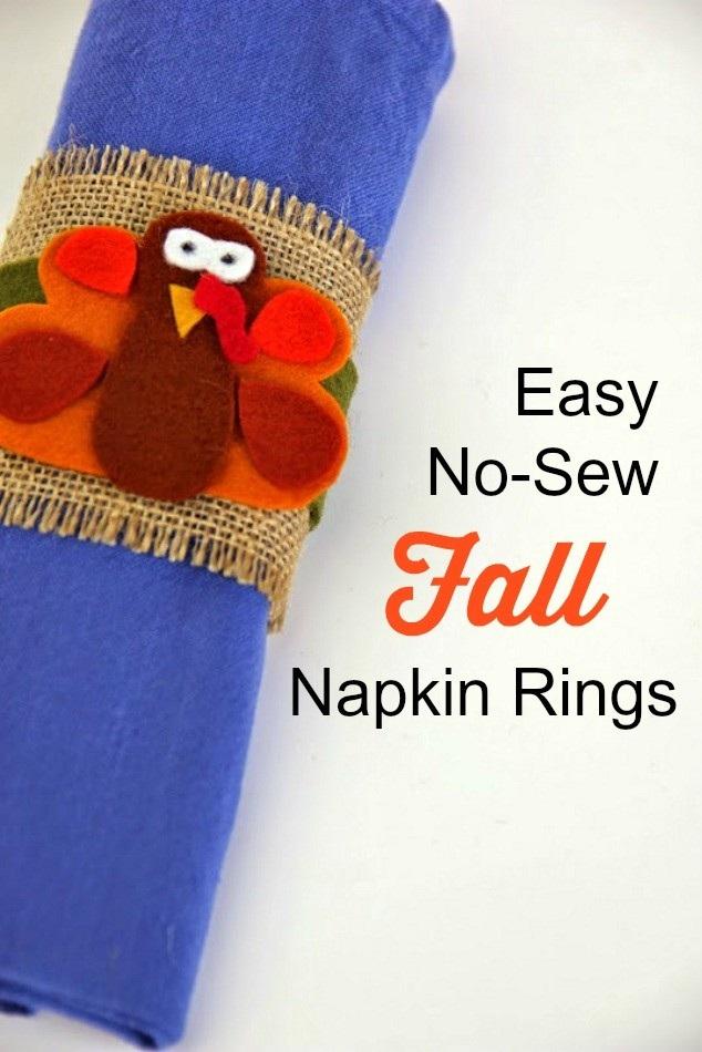 Easy No Sew Fall Napkin Rings