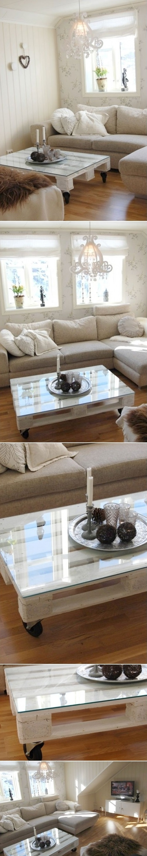 DIY Coffee Table from Wooden Pallet