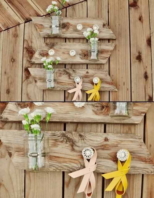 DIY Mason Jar Wall Piece