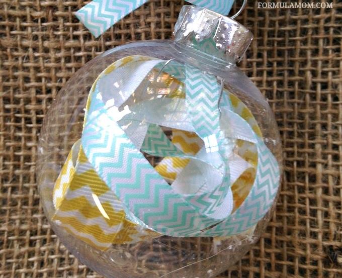 12 Days of DIY Christmas Ornaments Scrap Ribbon Ornament #Christmas #DIY