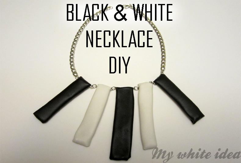 Black & white necklace DIY