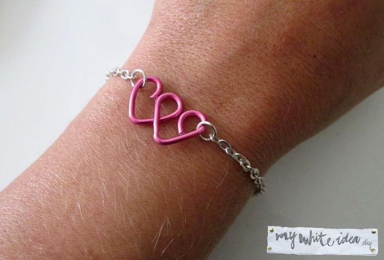 Double heart bracelet DIY