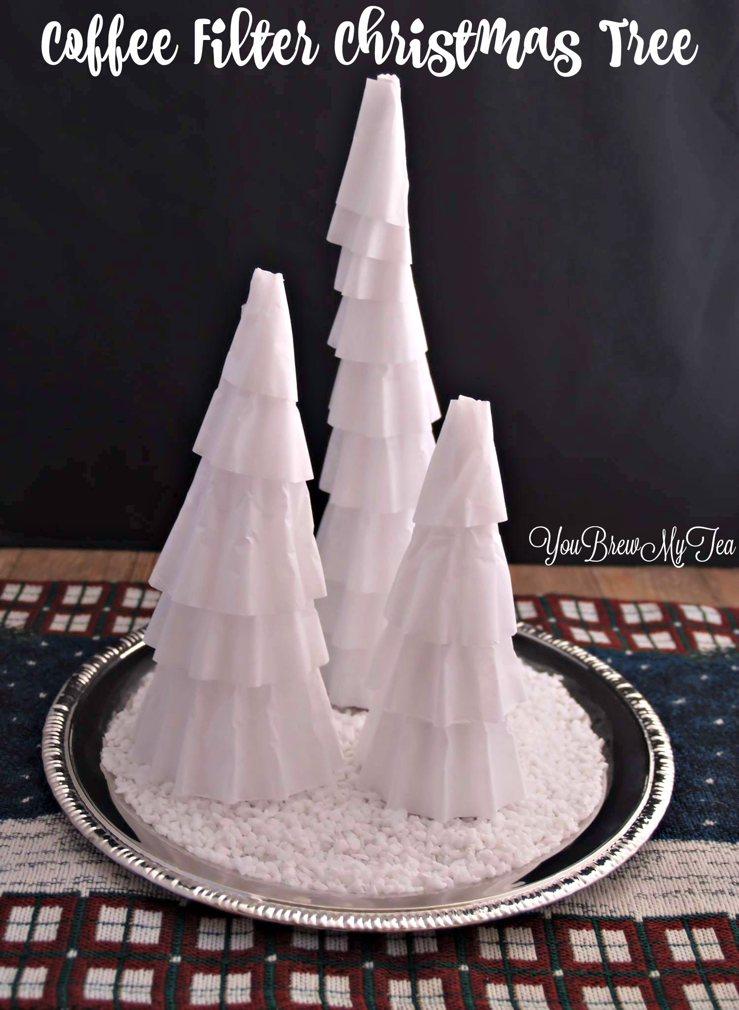 Coffee Filter Christmas Tree Centerpiece