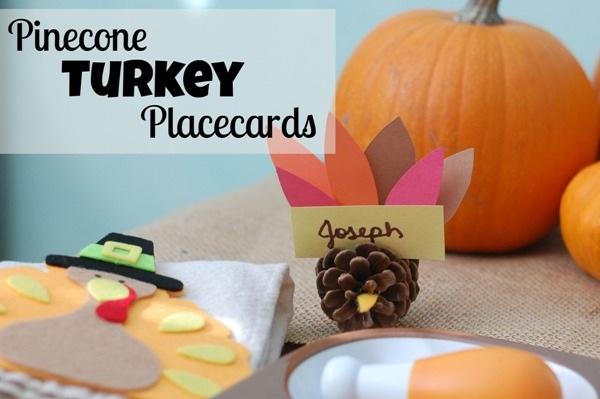 Pinecone Turkey Craft Placecards