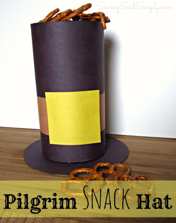 Thanksgiving Kids Craft Pilgrim Snack Hat