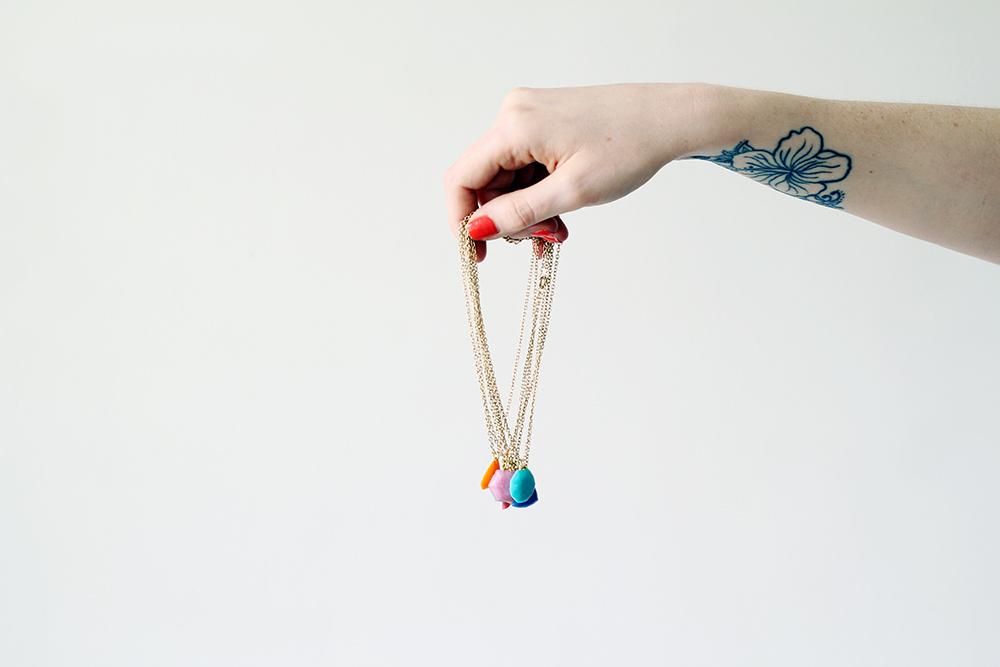DIY gemstone necklaces
