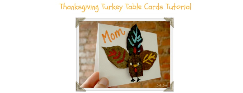 Thanksgiving Turkey Table Cards Tutorial