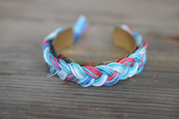 Diy:  aurelie bidermann braided cuff bracelet