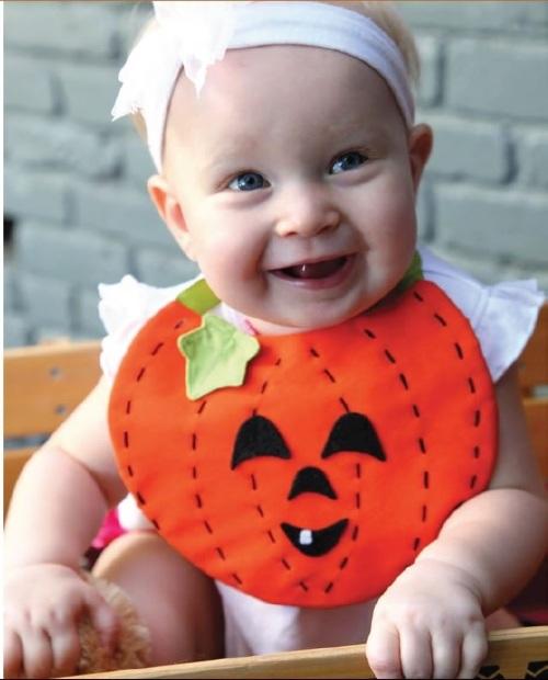 Sew It Yourself Little Pumpkin Baby Bib