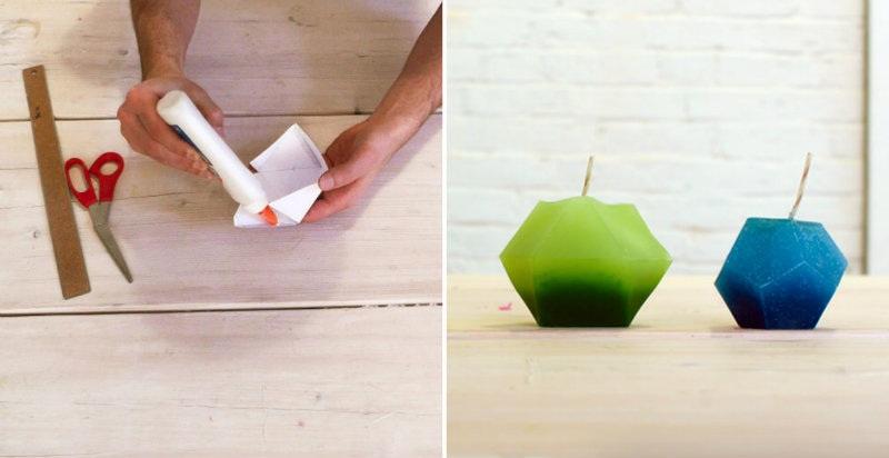 How to Make Modern Geometric Candles