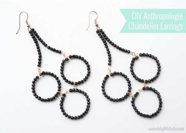 DIY anthropologie chandelier earrings