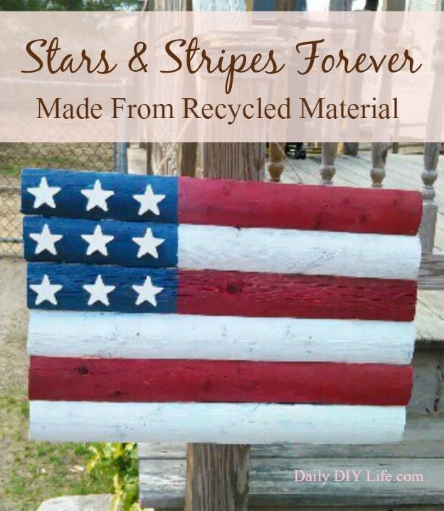 Stars & Stripes Forever! Wooden American Flag Craft