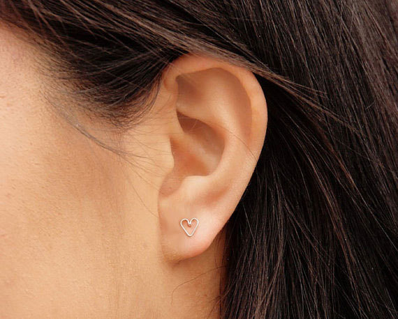 Heart earrings DIY