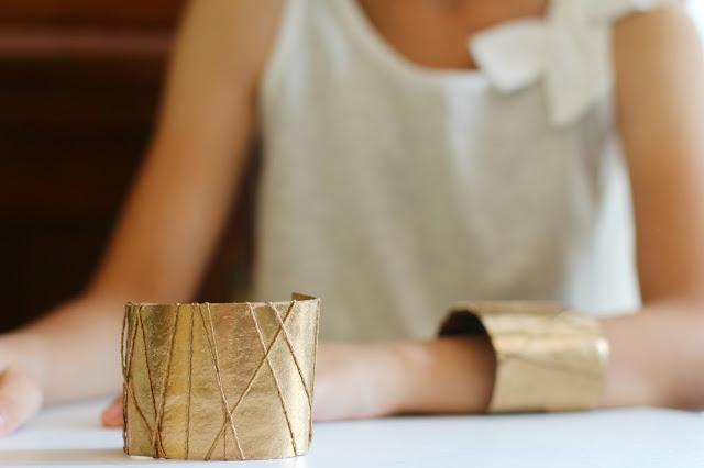 Diy  paper roll cuff bracelets