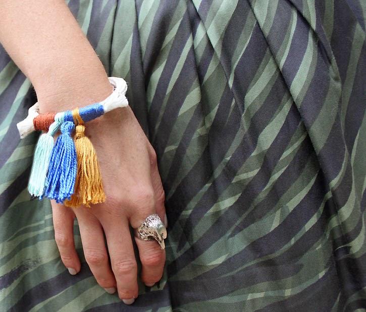 DIY anthropologie tassled rope bracelet