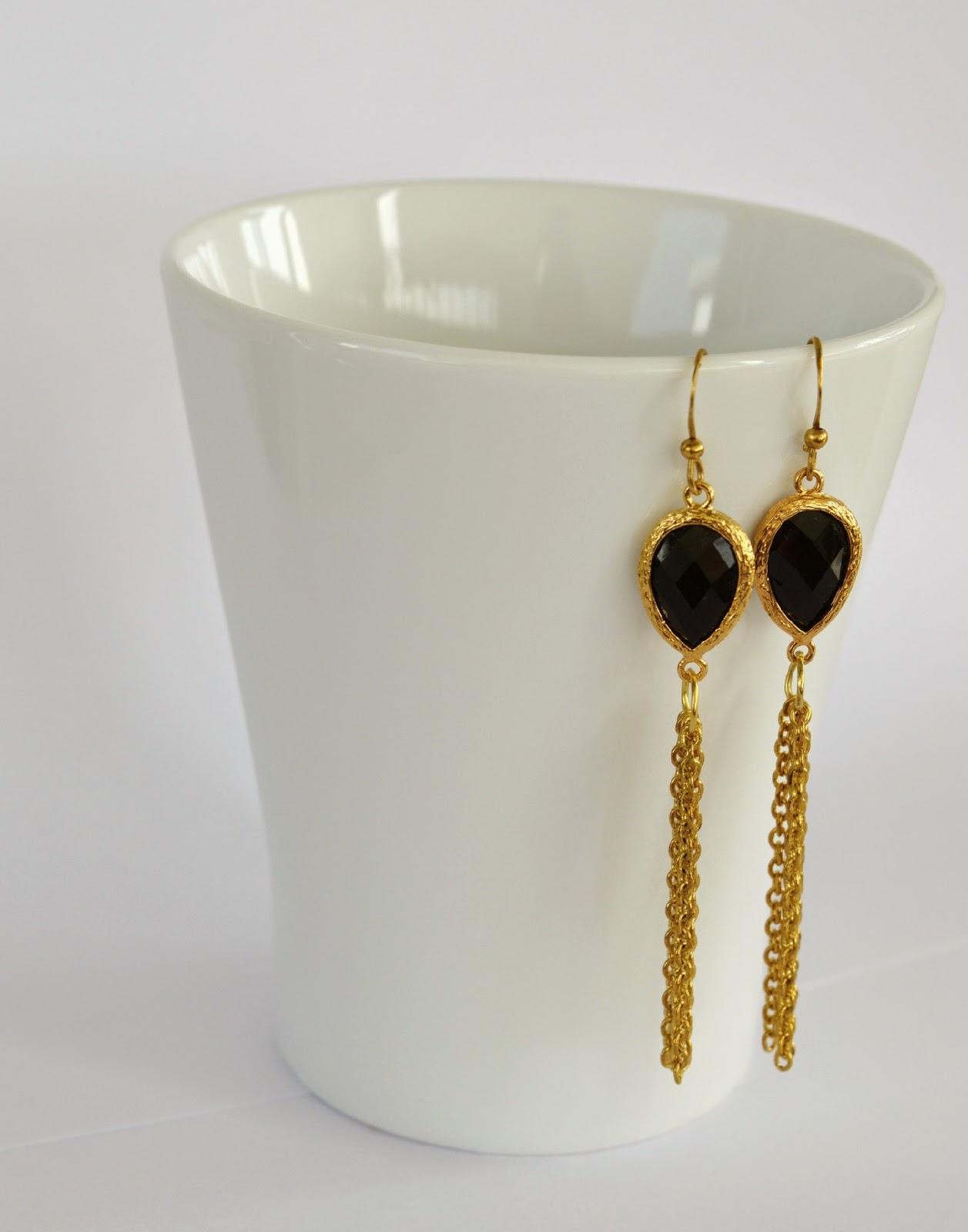 Elegant earrings DIY