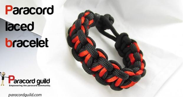 Laced paracord bracelet