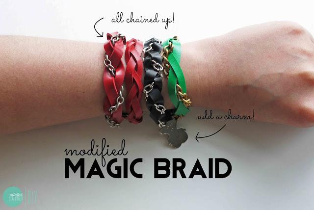 Diy: modified magic braid bracelets