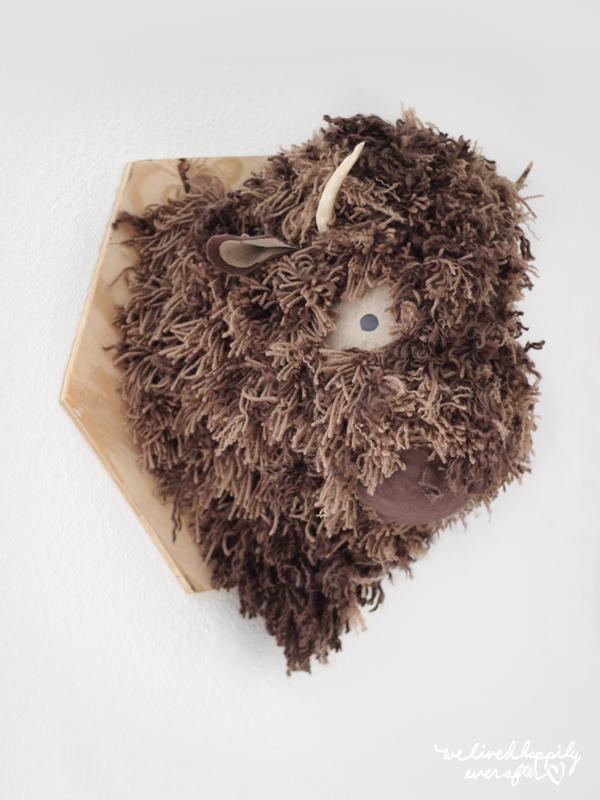 DIY buffalo head