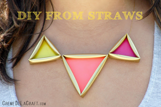 Diy: neon necklace from straws