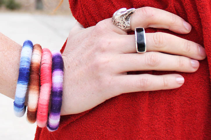 DIY wrapped ombr¨¦ bangles
