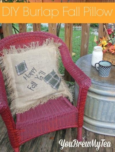 DIY Fall Burlap Pillow