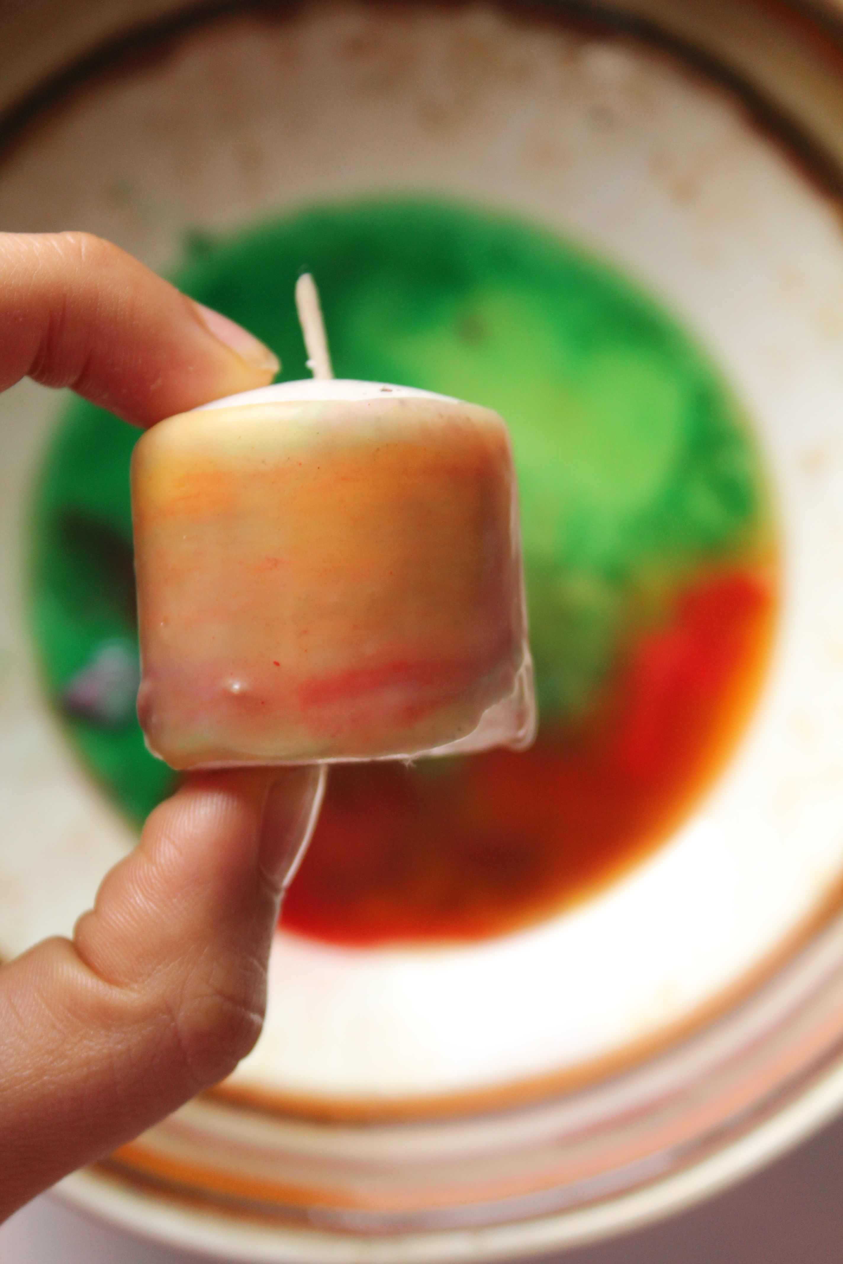 DIY Holiday Candle Decor Simple and Non toxic