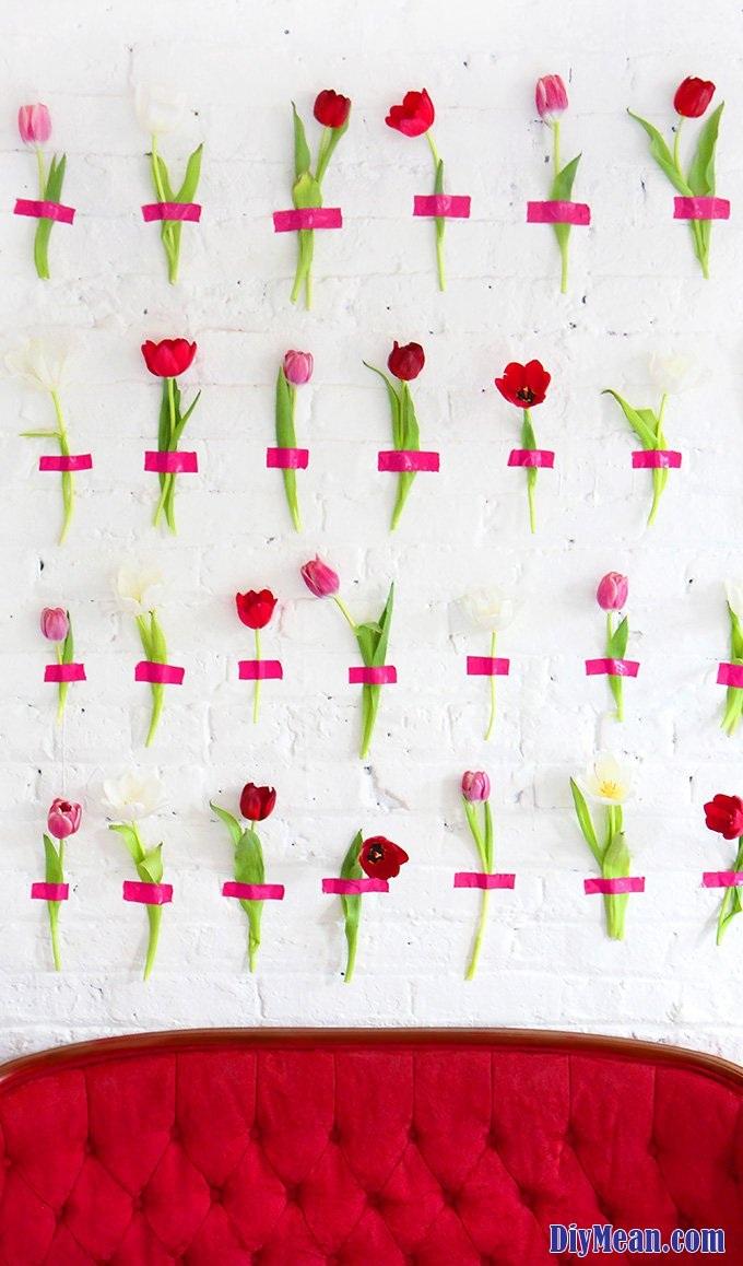 MY DIY Floral Wall Backdrop