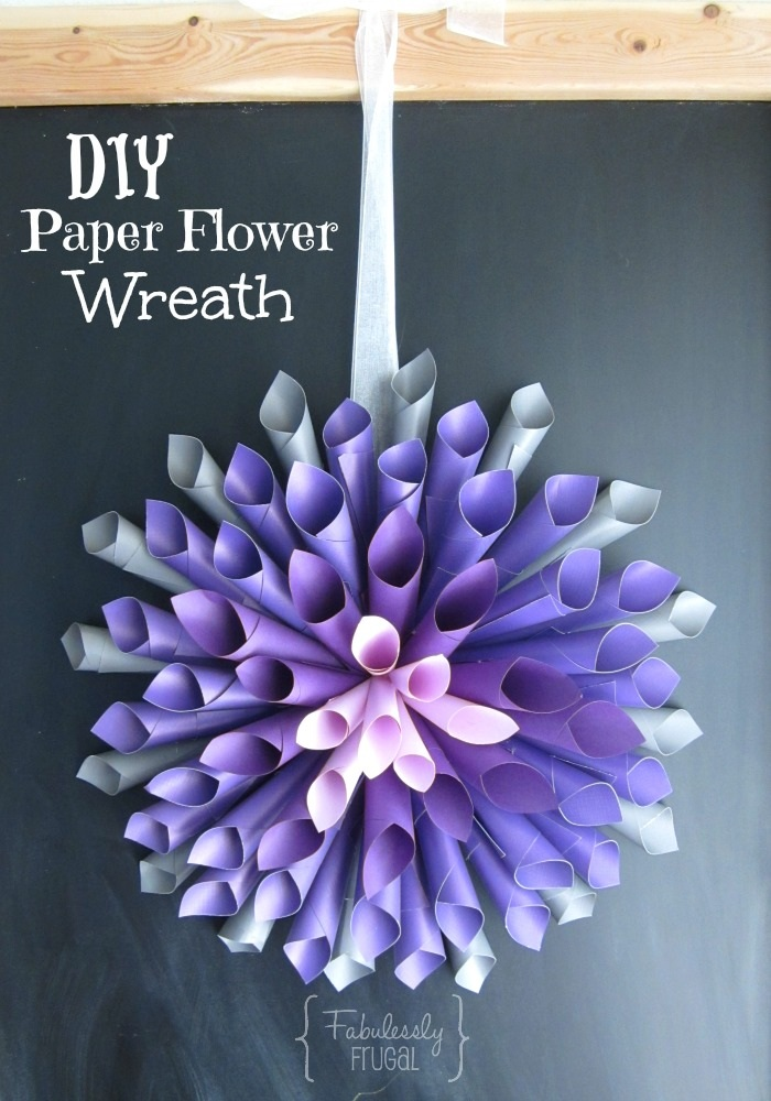 DIY Paper Flower Wreath