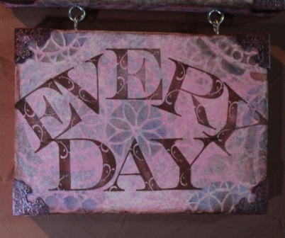 Create ART Everyday Stenciled, Stamped and Inked Canvas