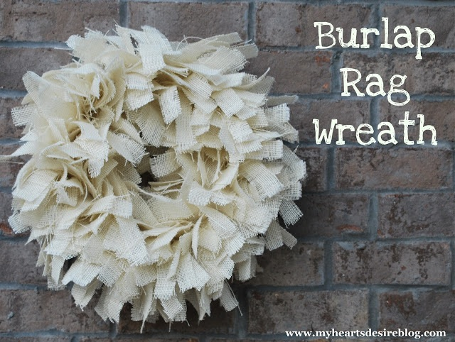 Burlap Rag Wreath Tutorial