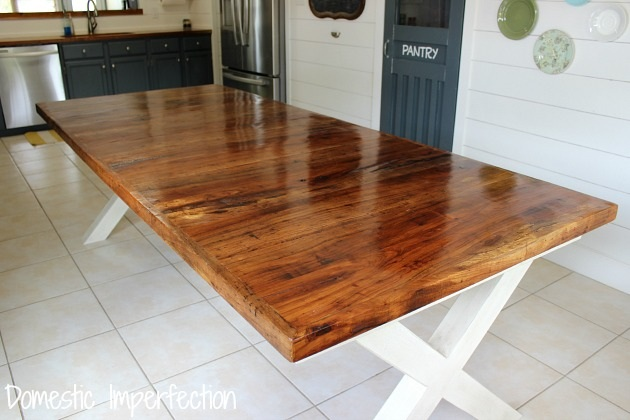 Pecan Farmhouse Dining Table