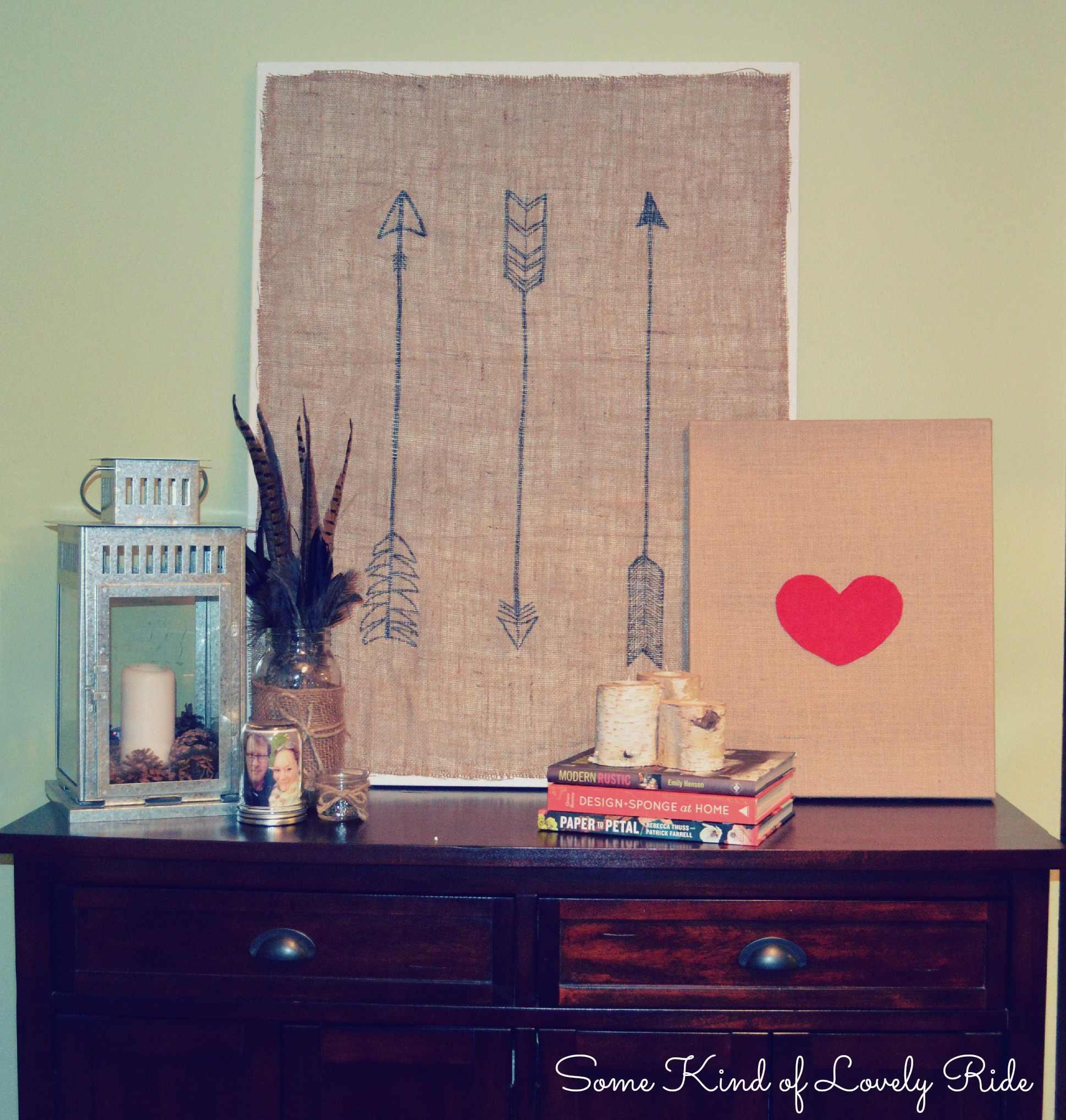 Burlap + Arrows Canvas