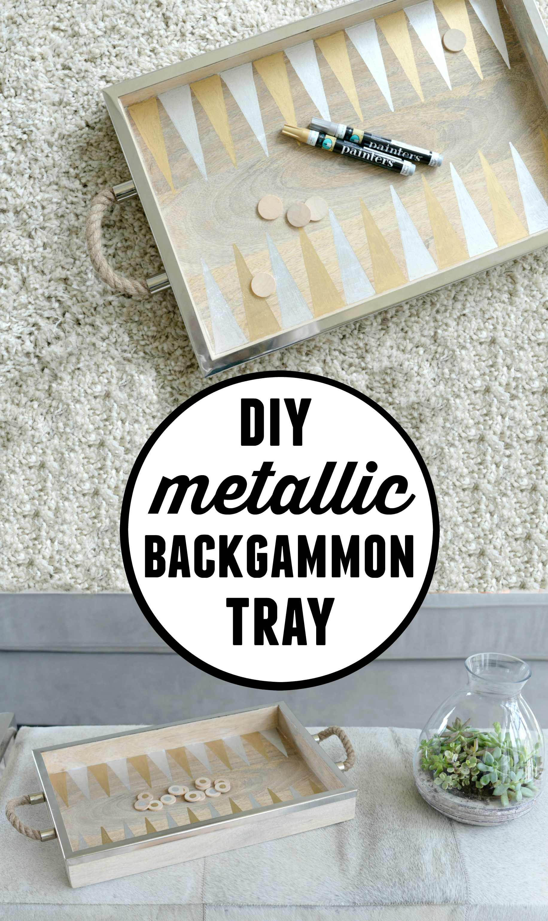 DIY Backgammon Game Tray