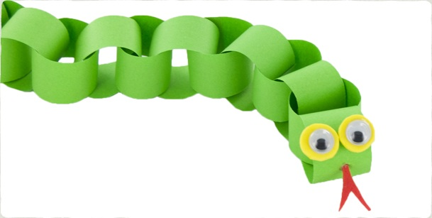 Chinese new year diy craft paper chain snake craftsmile for Reptile crafts for kids