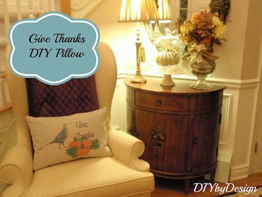 DIY Give Thanks Pillow A JoAnn Fabric Celebrate the Season Craft
