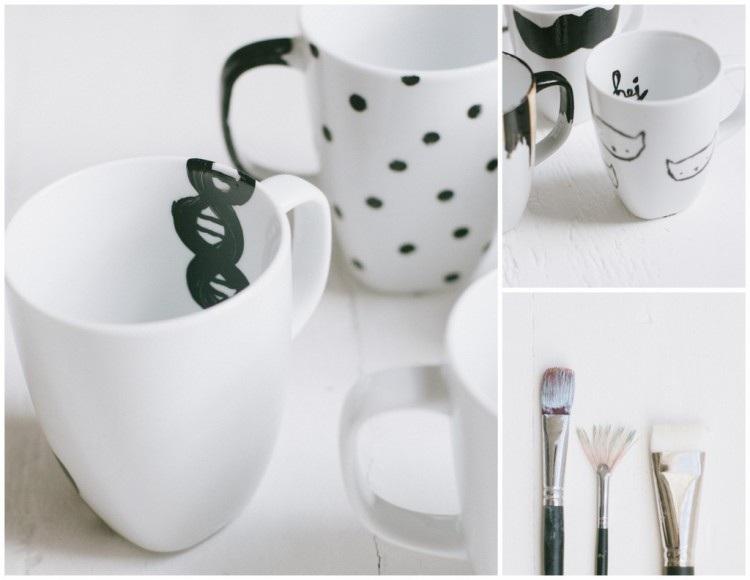 The {simplest} diy coffee mugs