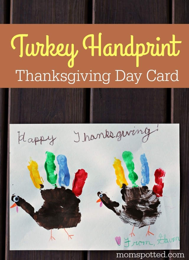 Turkey Handprint Thanksgiving Craft Card