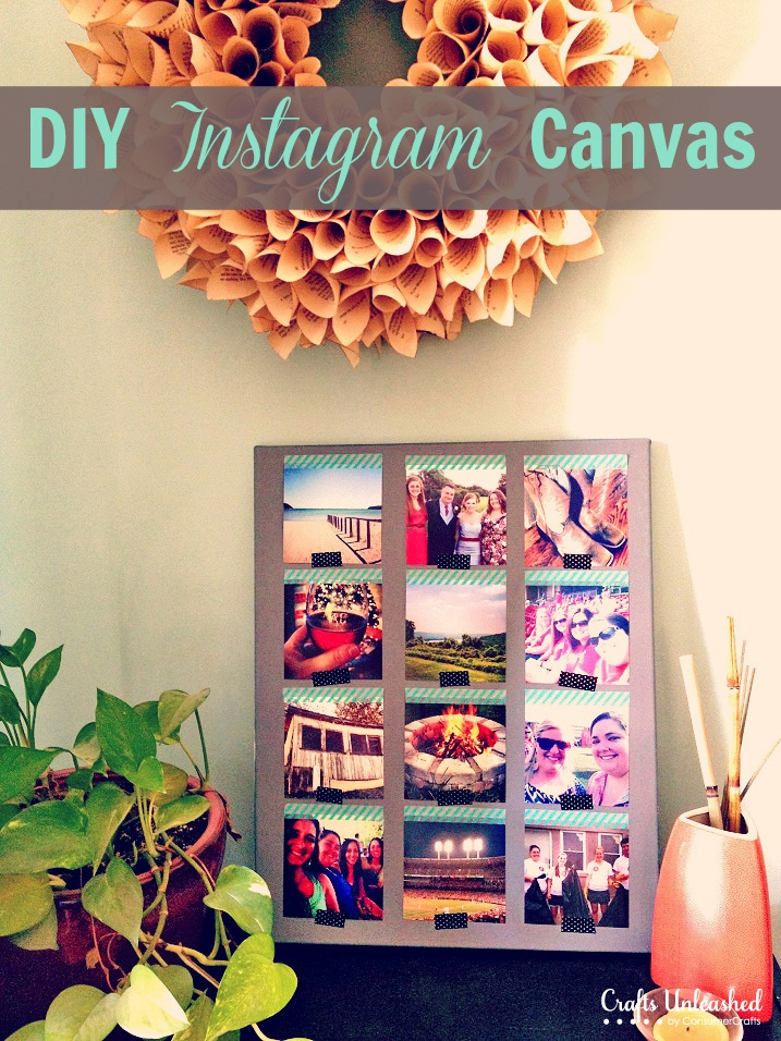 Instagram Canvas Wall Art Tutorial Quick & Easy
