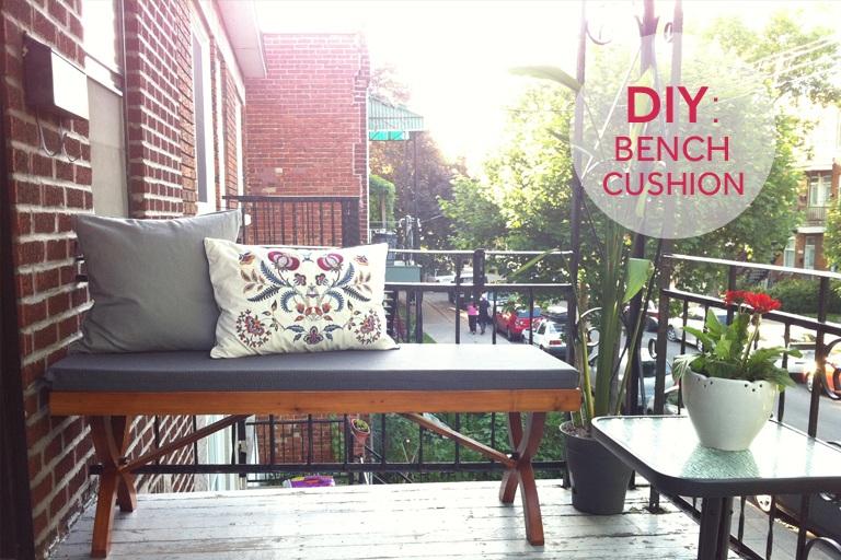 DIY Autumn Bench Cushion