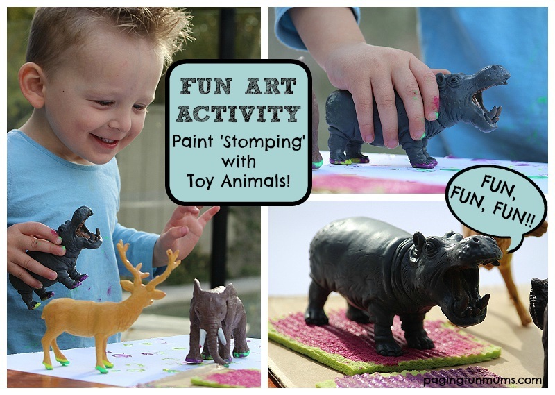 Fun Painting Activity Using Toy Animals