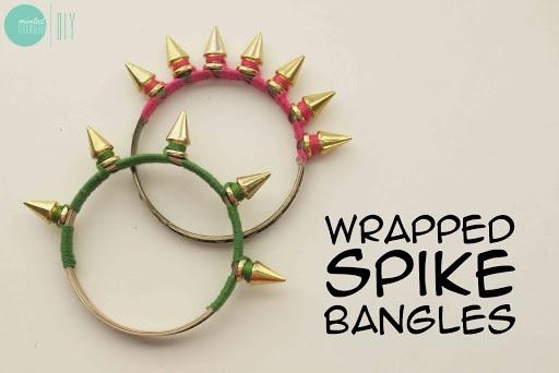 DIY Wrapped Spike Bangles