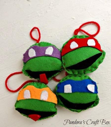 Felt Ninja Turtle Christmas Ornaments Pandora's Craft Box