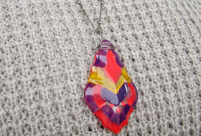 Crystal necklace DIY