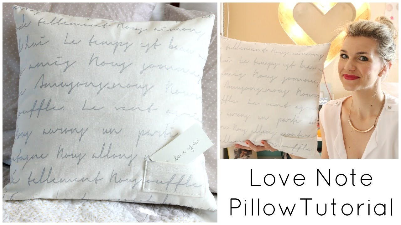 Sew a Love Note Pillow for Valentine's Day with iheartstitching