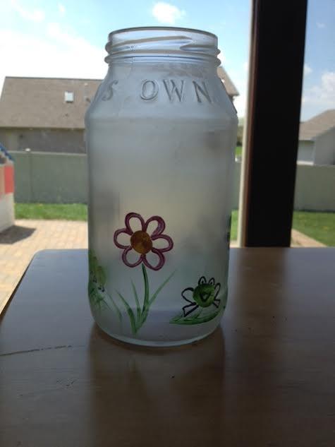 Fingerprint Bug and Flower Vase